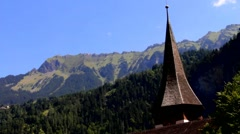 Lauterbrunnen valley , Switzerland Stock Footage