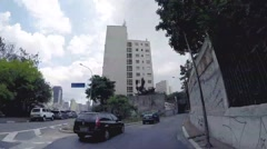 Driving from the Center for East Zone in Sao Paulo, Brazil Stock Footage