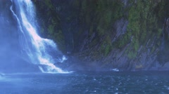 stirling falls milford sound - stock footage
