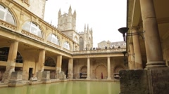 Roman Baths - Bath Stock Footage