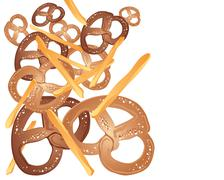 Pretzels and french fries Stock Illustration