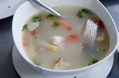 tom yum fish - stock photo