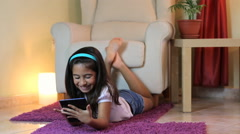 Little Child Using A Tablet PC Stock Footage