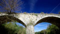 Old stone bridge. Stock Footage