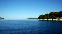 Blue sea and Adriatic islands - stock footage