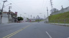 Driving in the Bridge Padre Adelino close to Radial Leste in Sao Paulo Stock Footage