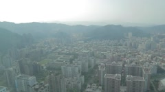 Birds eye view of Xinyi buildings from Taipei 101 Stock Footage