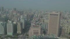 Aerial birds eye up xinyi road Stock Footage
