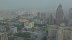 Aerial pan from Sun Yat sen to Att4fun Stock Footage