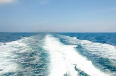 astern wave - stock photo