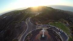 Mount Soledad Landmark San Diego Stock Footage