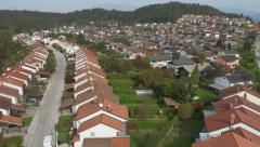 AERIAL: Suburban Street Rows in Residential Neighborhood Stock Footage