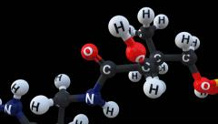 ACETYL GROUP IN CHEMISTRY - stock footage