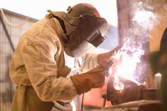Arc welder Stock Photos