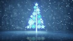 Growing christmas tree holiday symbol loopable Stock Footage