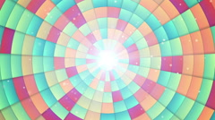 Circular colorful segments loopable background Stock Footage