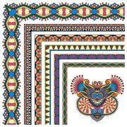 floral vintage frame design. Vector set - stock illustration