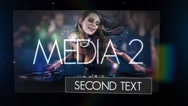 Stock After Effects of Dark Dynamic Music Photo Video Text Display Light Transition Logo Reveal Intro