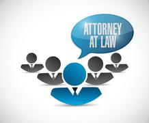 Attorney at law message illustration Stock Illustration