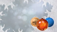 Christmas ball. Background. Stock Footage