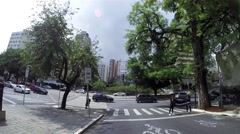 Driving from Consolacao to Paulista Avenue in Sao Paulo, Brazil Stock Footage