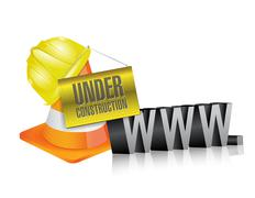 Web under construction. www. Stock Illustration