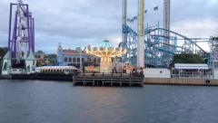 Roller Coaster at Gröna Lund amusemment park Stockholm Stock Footage