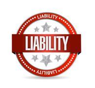 Liability seal illustration design Stock Illustration