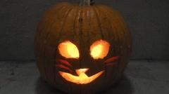 Jack-o'-lantern - stock footage