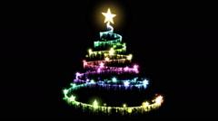 Rotating Christmas Tree Animation - Loop Rainbow Stock Footage