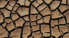 Dry Lake Famine from Global Warming Climate Change Panning Shot - stock footage