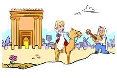 Jewish wedding Stock Illustration