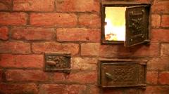 Heat burning home furnace Stock Footage