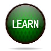 Learn green internet icon.. Stock Illustration