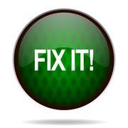 fix it green internet icon. - stock illustration