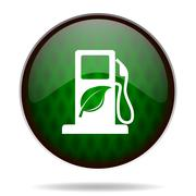Biofuel green internet icon. Stock Illustration