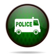 Police green internet icon. Piirros