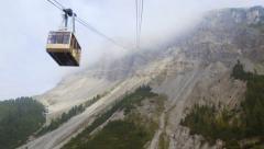 Seceda ropeway encounter 11549 Stock Footage