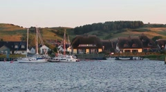 Harbor on the island of Rugen - stock footage