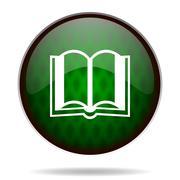 Book green internet icon. Piirros