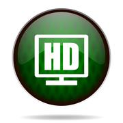 hd display green internet icon. - stock illustration