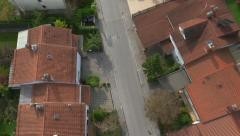 AERIAL: Row houses in suburban town Stock Footage