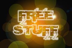 Free stuff concept Stock Illustration