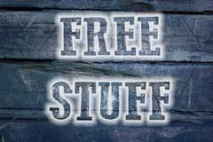 free stuff concept - stock illustration