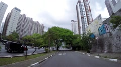 Accelerated Video in the Famous 23 May Avenue in Sao Paulo, Brazil Stock Footage