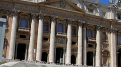 Vatican. St. Peters Basilica. Italy Stock Footage