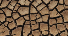 Dry Lake Famine Global Warming Climate Change Pan in 4K 4096x2160 Stock Footage