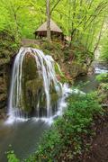 Bigar cascade falls in beusnita gorges national park, romania Stock Photos