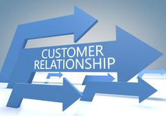 customer relationship - stock illustration