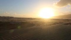 Sunset sand storm on Waikanae Beach Stock Footage